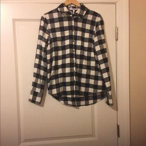 10 Crosby Derek Lam Black & White Flannel